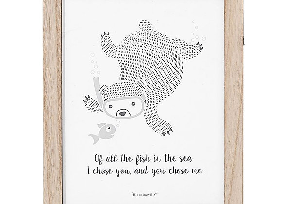 """Of All The Fish In The Sea"" Wall Decor"