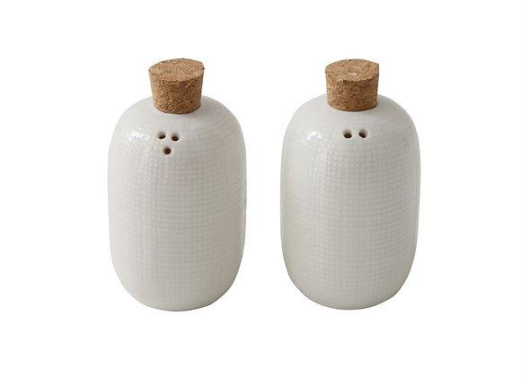 Ceramic Salt & Pepper Shakers, S/2