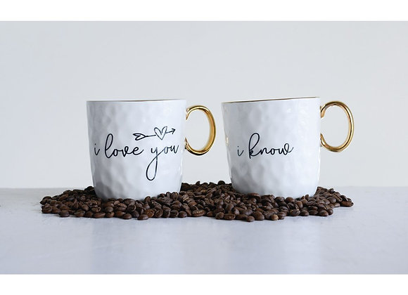 """I Love You"" Mugs S/2"