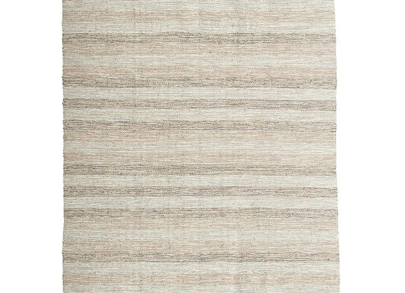 Woven Striped Jute Rug
