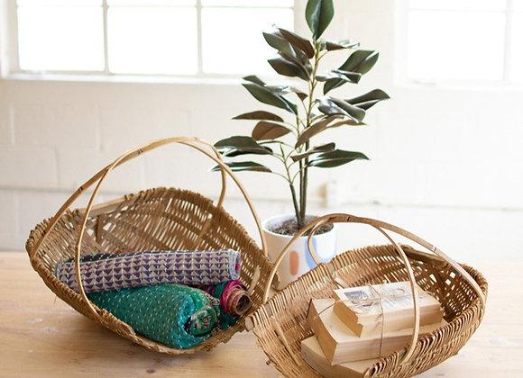 Natural Bamboo Baskets, S/2