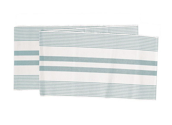 Sea Glass Striped Table Runner