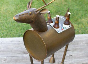 Brass Deer Barrel Cooler or Planter