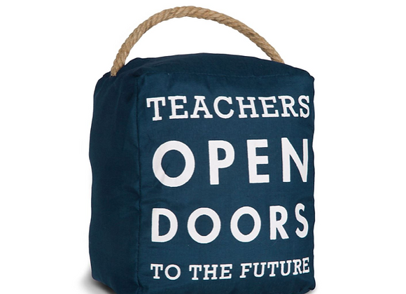 """Teachers Open Doors"" Door Stop"
