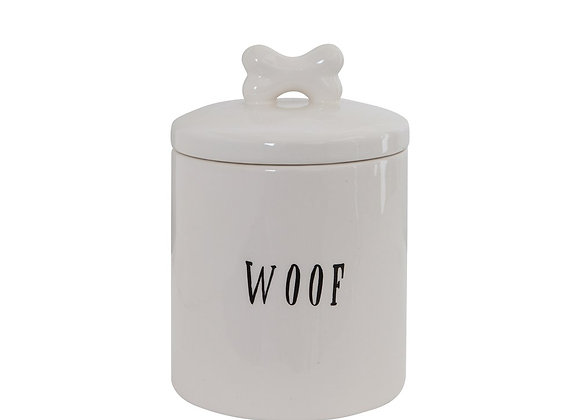 """Ceramic """"Woof"""" Canister"""