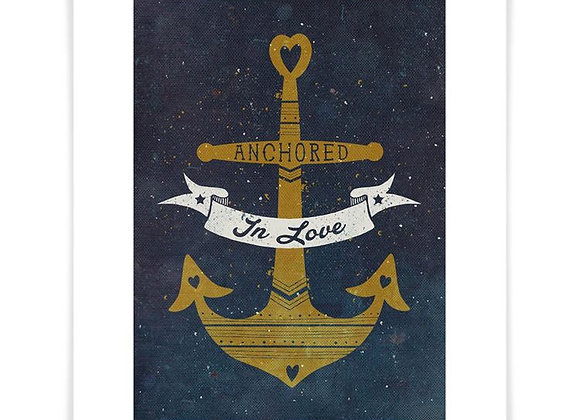 Anchored In Love Art Print