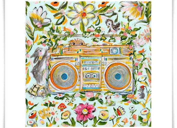 Boombox Garden Art Print