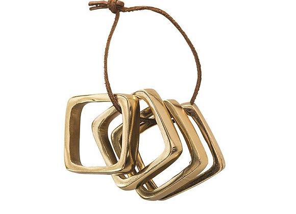 Brass Napkin Rings, S/4