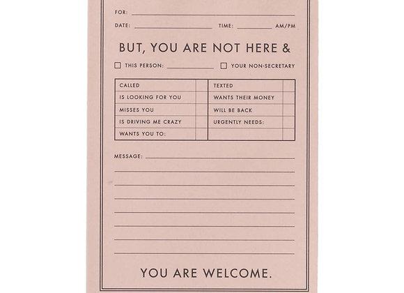 Not Your Secretary Notepad