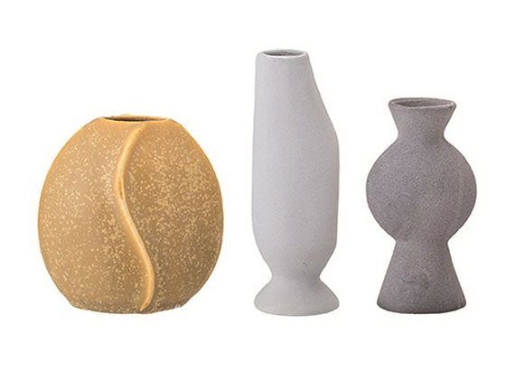 Stoneware Vases S/3