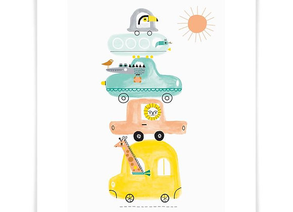 Jungle Traffic Jam Art Print