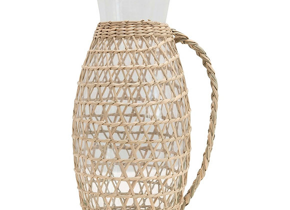 Glass Pitcher with Seagrass Weave 19.99
