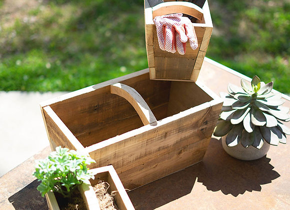 Nesting Recycled Wood Trugs, S/3
