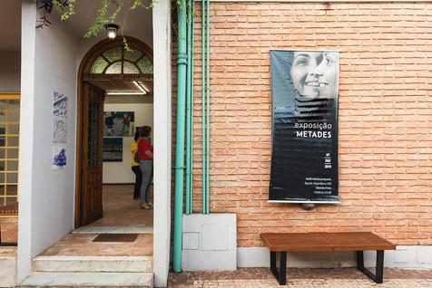 Banner desenvolvido para a Exposição Metades