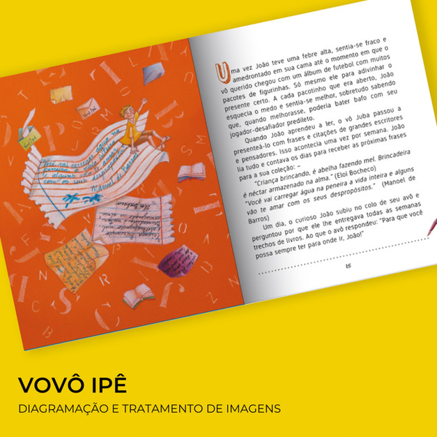 Livro infantil Vovô Ipê