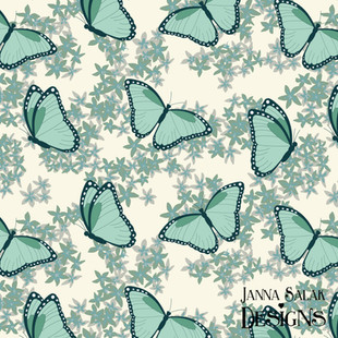 Winter Butterfly Floral