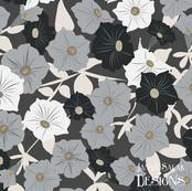 Petunia Floral Dark