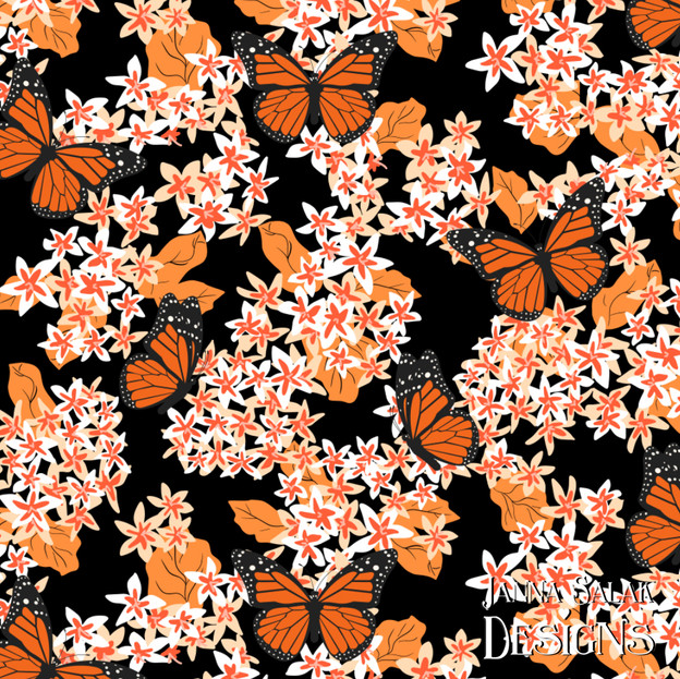 Monarch Buttefly Floral