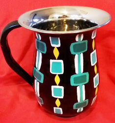 Black Geometric Jug