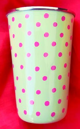 Green / Pink Polka Dot Tumbler