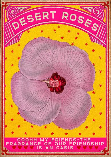 Desert Roses Poster A2