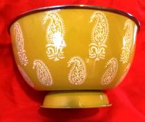 Paisley Mustard Large Bowl