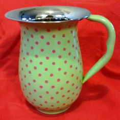 Green / Pink Polka Dot Jug