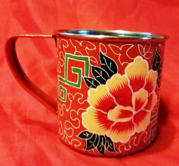 Handpainted Orange Mug