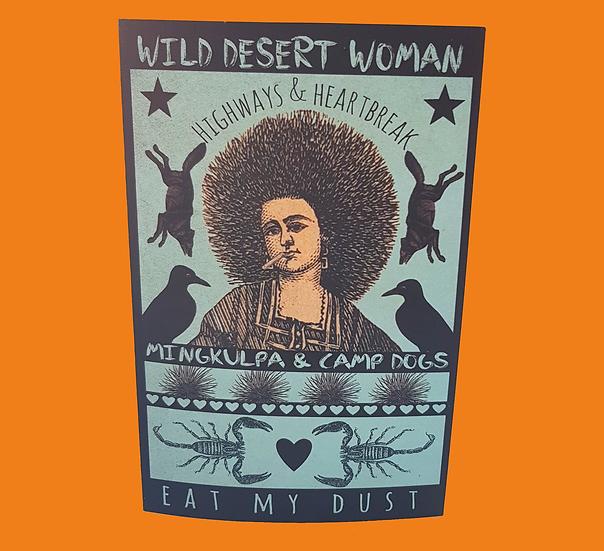 Wild Desert Woman Card & Envelope