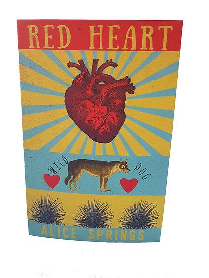 Red Heart card & envelope