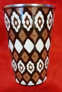 Brown & White Pattern Tumbler