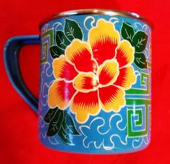 Hand Painted Light Blue Mug