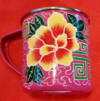 Hand Painted Pink Mug