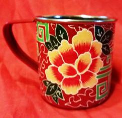 Hand Painted Red Mug