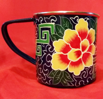 Handpainted Navy Mug