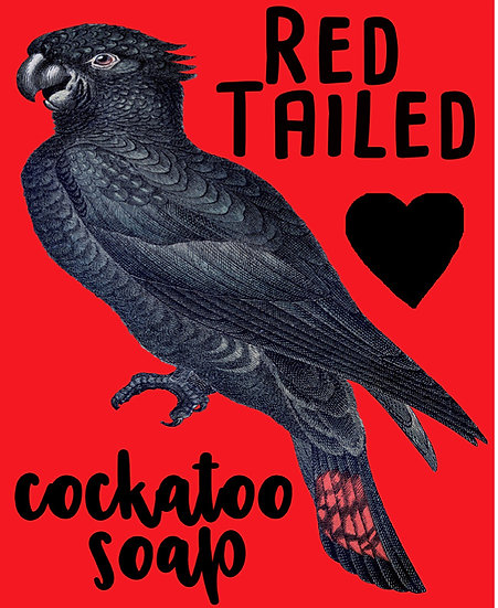 Red Tailed Black Cockatoo Soap