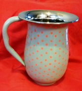 Grey / Orange Polka Dot Jug