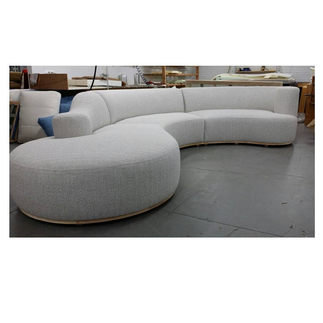 Curved Custom Upholstered Sectional