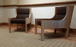custom rift cut oak chairs
