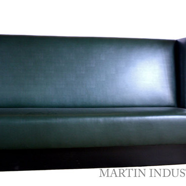 Black Banquette Commercial Upholstery Custom