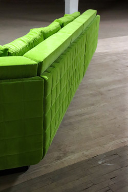 Quilted Green Sectional
