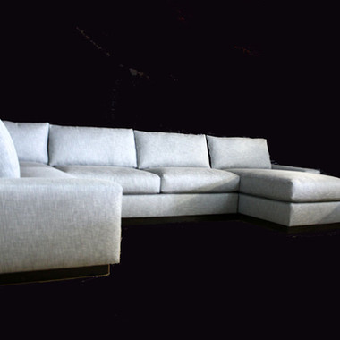 Custom Upholstery Sectional Sofa Grey