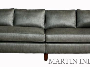 Custom Upholstery Grey Sofa