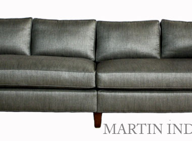 Custom Upholstery Grey Sofa