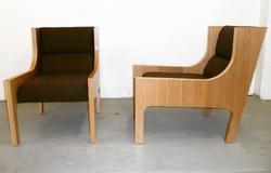 custom rift cut oak chairs 2