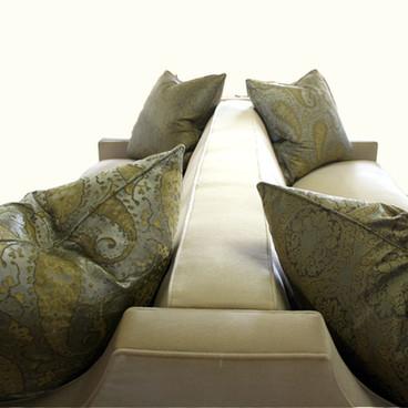 Back to Back Custom Upholstered Velvet Sofa