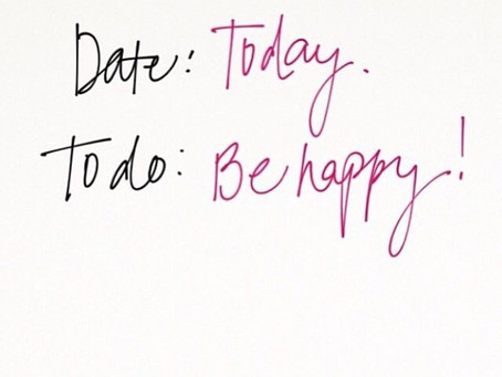 3 STEPS TO BE HAPPY NOW