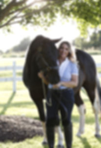 Life Coach Julie Saillant with equine therapy horse