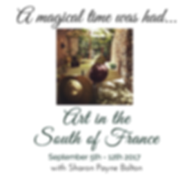 Art in The South of France with Sharon Payne Bolton