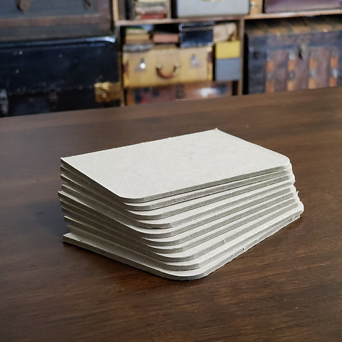 "10 pages Rounded Outside Corners 3""x4"" Bookboard (vertical)"